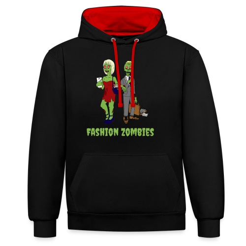 Fashion Zombie - Contrast Colour Hoodie
