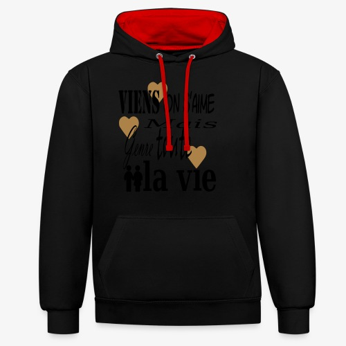 Viens on s'aime2 - Sweat-shirt contraste