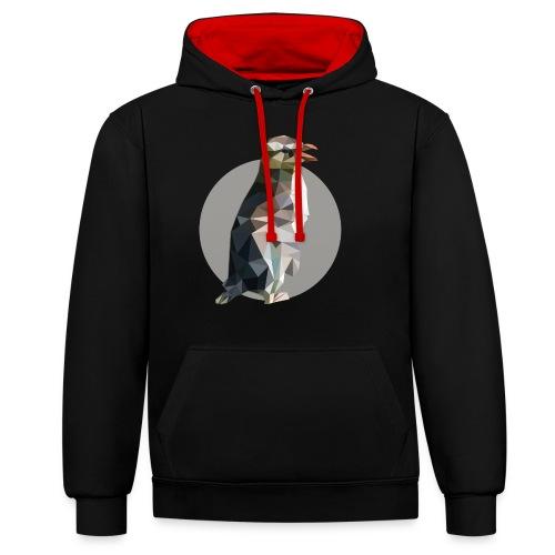 Pinguin - Kontrast-Hoodie