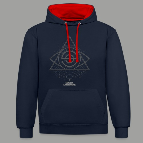 Dracunit symbol2 grey white - Kontrastluvtröja