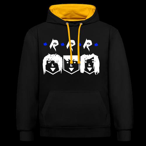 RRR - Heads (Für Schwarze Kleidung) - Kontrast-Hoodie