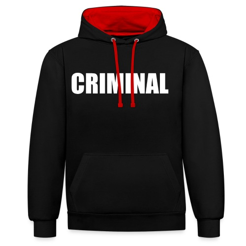 CRIMINAL - Sweat-shirt contraste