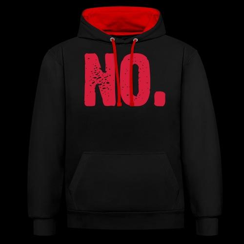 No. - Kontrast-Hoodie