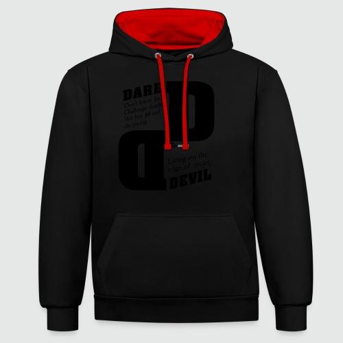 dare - Contrast hoodie