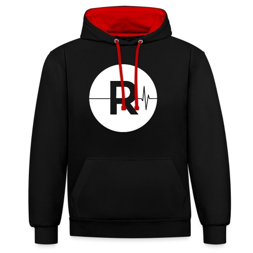 REVIVED - BIG R - Contrast Colour Hoodie