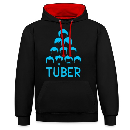 OrdinaryTuber Blue Hair - Contrast Colour Hoodie