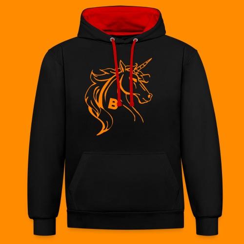 orange biodusty unicorn shirt - Contrast hoodie