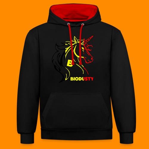 belgian biodusty unicorn hoodie unisex - Contrast hoodie
