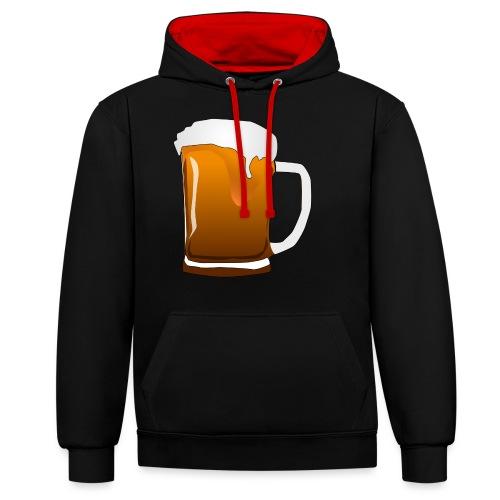 Cartoon Bier Geschenkidee Biermaß - Kontrast-Hoodie