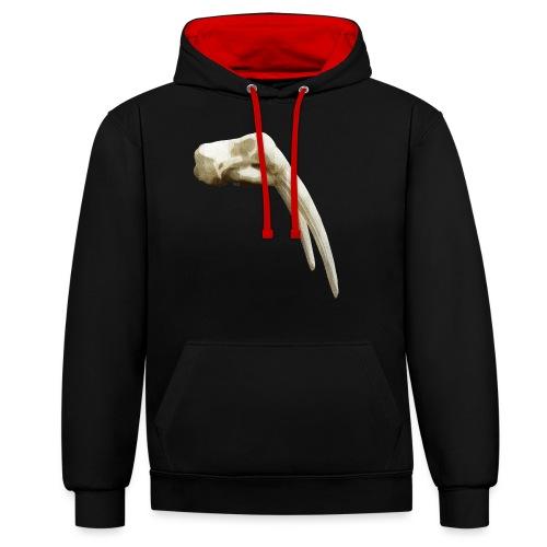 Schedel van een walrus - Contrast hoodie