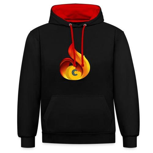 Crunch on Fire - Felpa con cappuccio bicromatica