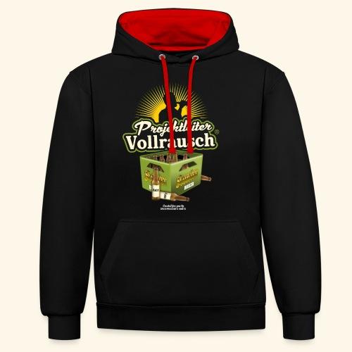 Bier Saufen T Shirt Projektleiter Vollrausch® - Kontrast-Hoodie