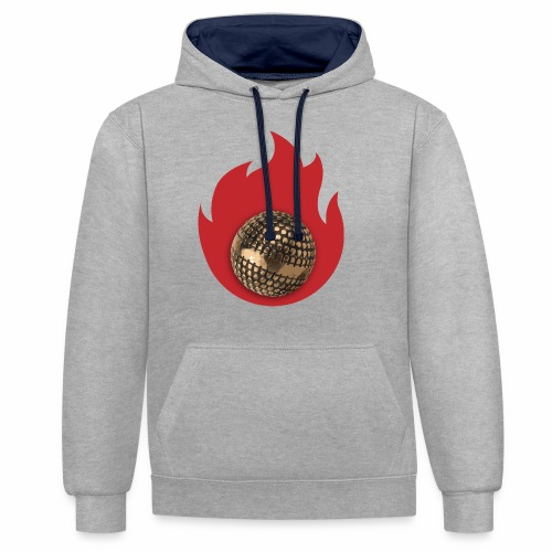 petanque fire - Sweat-shirt contraste