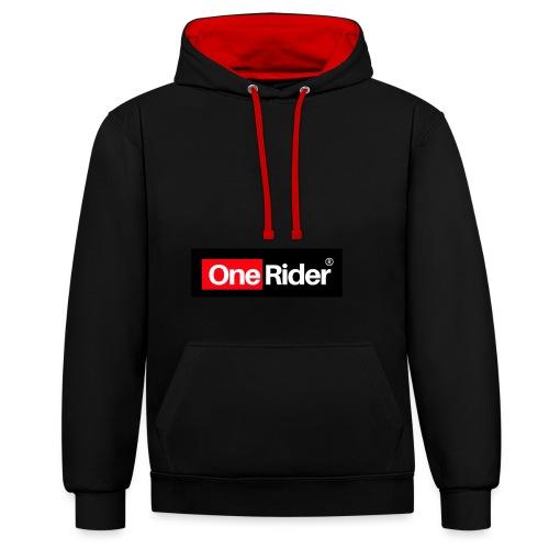 Colección OneRider® - Sudadera con capucha en contraste