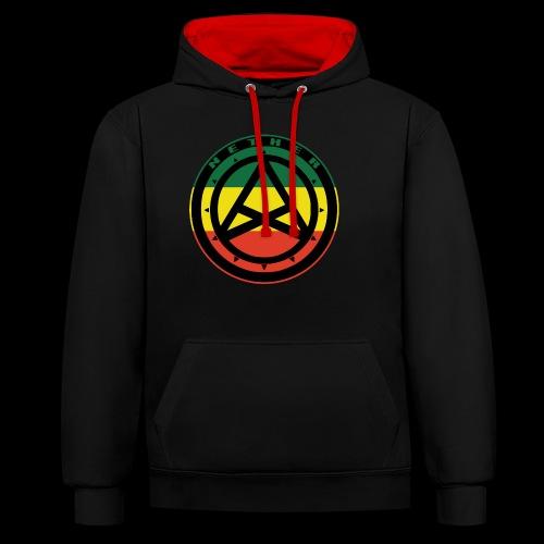 Nether Crew Black\Green\Yellow\Red Hoodie - Felpa con cappuccio bicromatica