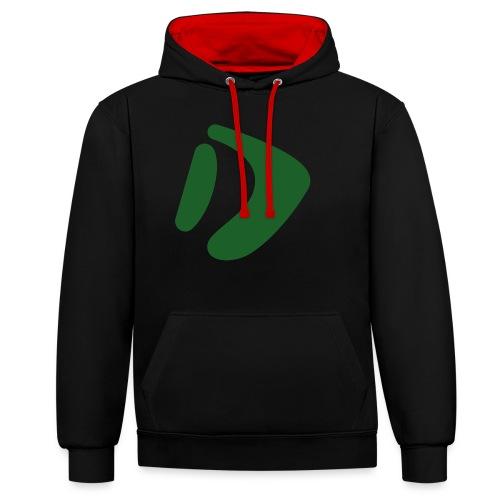 Logo D Green DomesSport - Kontrast-Hoodie