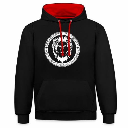 SBE Lion White - Contrast Colour Hoodie