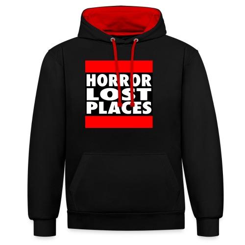 Horror Lost Places - Kontrast-Hoodie