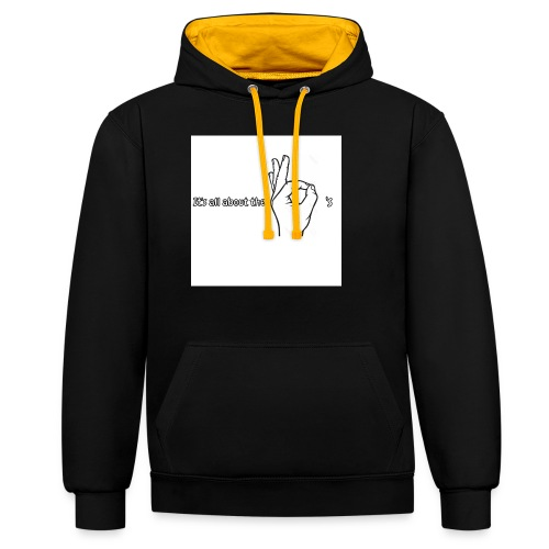 All about the - Contrast Colour Hoodie
