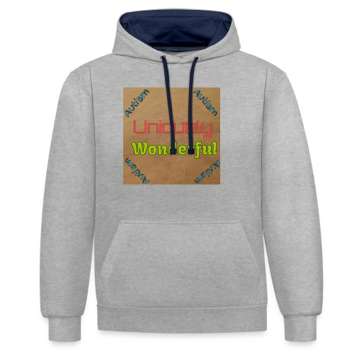 Autism statement - Contrast Colour Hoodie