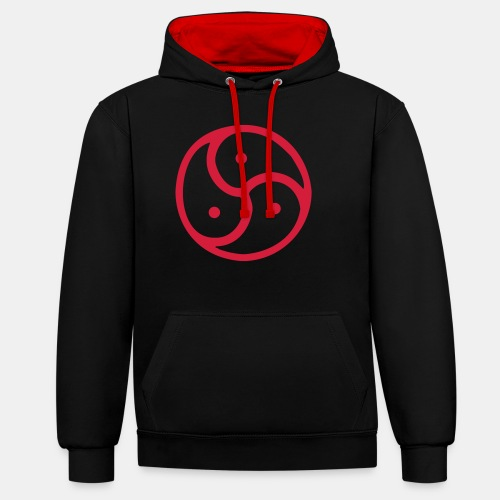 Triskelion / Triskele single-color - Kontrast-Hoodie