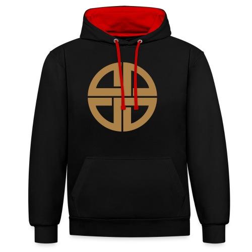 Thor Schildknoten, Schutzsymbol, Keltischer Knoten - Kontrast-Hoodie