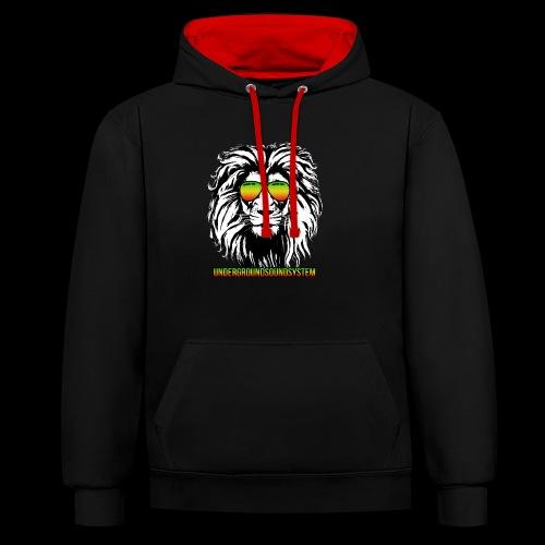 RASTA REGGAE LION - Kontrast-Hoodie