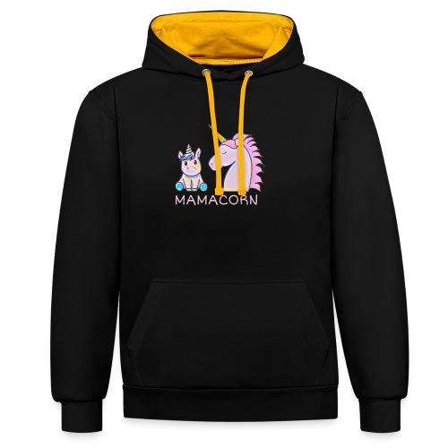 Mamacorn - Contrast Colour Hoodie