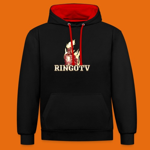 Ringo TV Logo - Kontrast-Hoodie