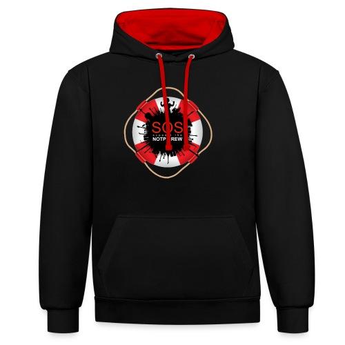 SOS NOTP CREW - Contrast hoodie