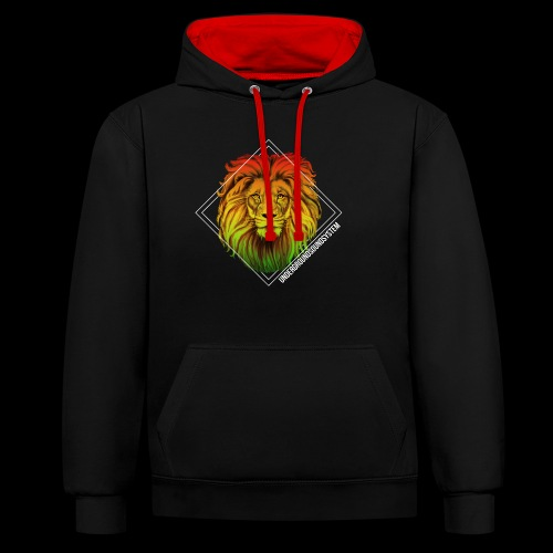 LION HEAD - UNDERGROUNDSOUNDSYSTEM - Kontrast-Hoodie
