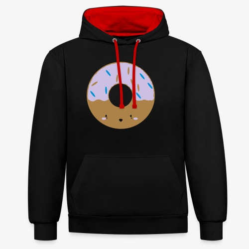Icing Donut - Contrast Colour Hoodie