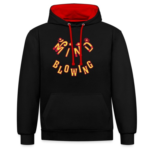 Mind Blowing - Kontrast-hættetrøje
