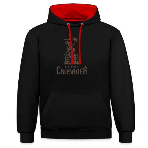 Drunk Crusader - Kontrast-Hoodie