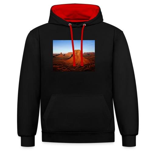 Desert - Sudadera con capucha en contraste