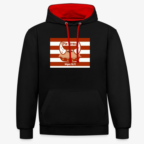 Pie Army - Contrast Colour Hoodie