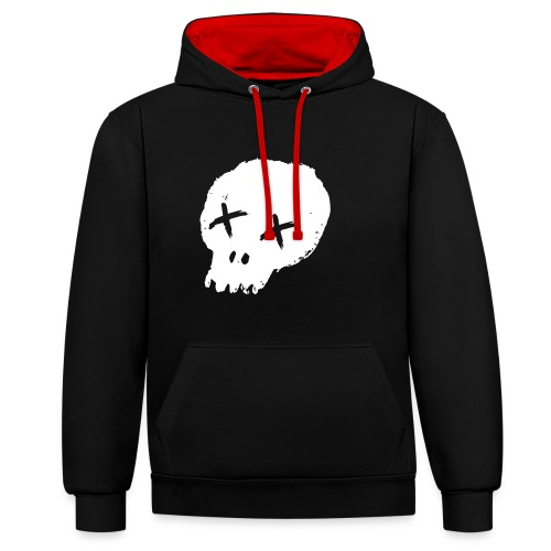 skulllogo - Contrast Colour Hoodie
