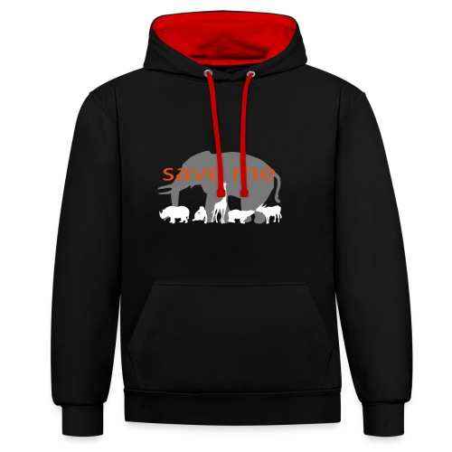 Animaux - Sweat-shirt contraste