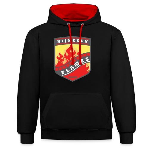 snapback pet rood/zwart combi - Contrast hoodie