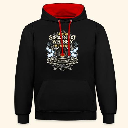 Whisky T Shirt Single Malt on the Rocks - Kontrast-Hoodie
