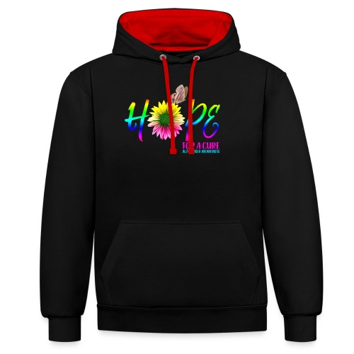 Hope For A Cure Alzheimer Awareness - Contrast Colour Hoodie