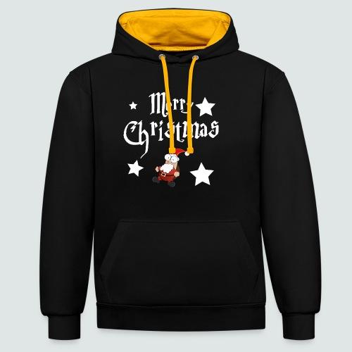 Merry Christmas - Ugly Christmas Sweater - Kontrast-Hoodie