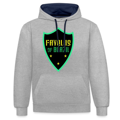 FAVELAS OF BRAZIL NOIR VERT DESIGN - Sweat-shirt contraste