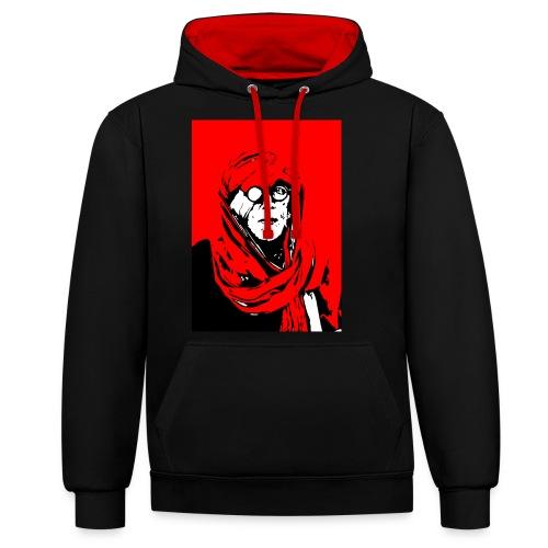 L'homme rouge représente la terre rouge d'Afrique. - Sweat-shirt contraste