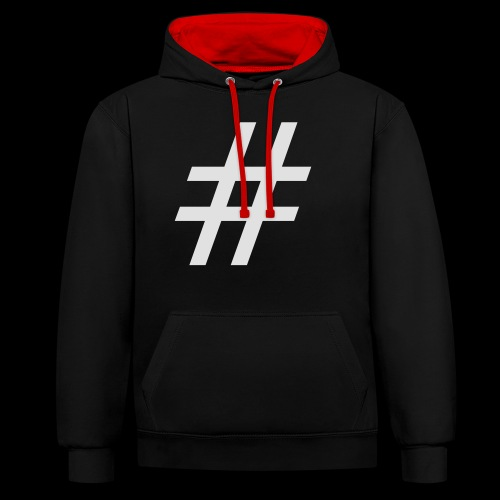 Hashtag Team - Kontrast-Hoodie