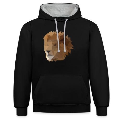 Löwe - Kontrast-Hoodie