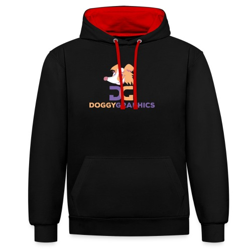 Choose Product & Print Any Design - Contrast Colour Hoodie