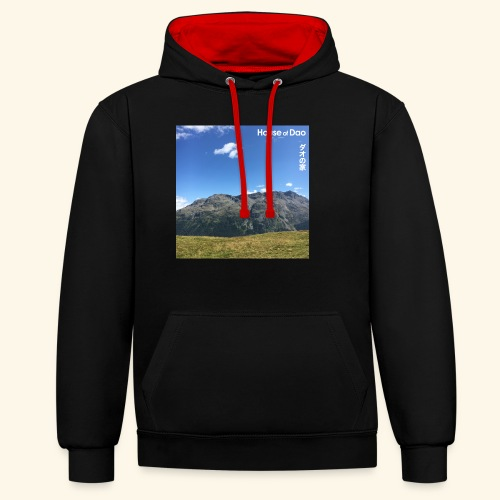 House of Dao - Top of Mountain View - Kontrast-Hoodie