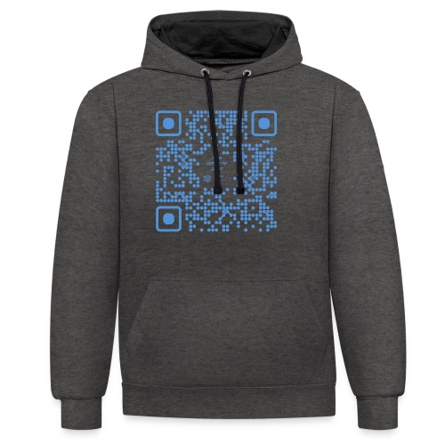 QR The New Internet Shouldn t Be Blockchain Based - Contrast Colour Hoodie