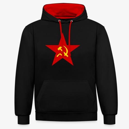 Communism Logo - Contrast Colour Hoodie